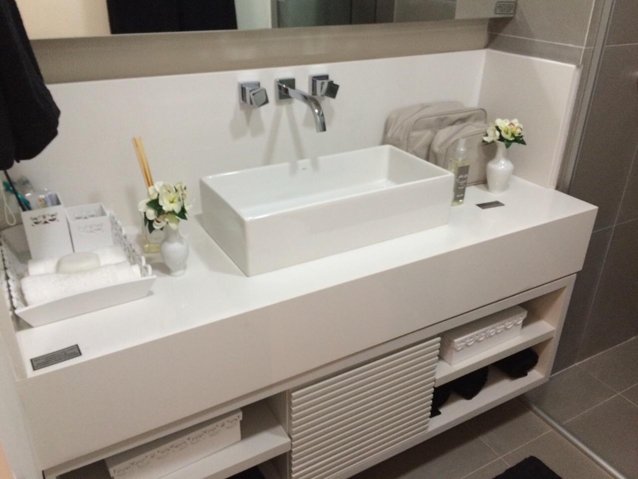 Marmores e Granitos  GranmaD -> Pia De Banheiro Branco Prime